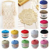 Cotton Crochet Cord Thread Hand Knitting Yarn Sewing Craft DIY Yarn 15 Colors