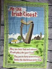 An Old Irish Toast Linen Cloth Art Made In Ireland (H11)