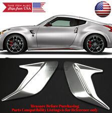 """2PC 5"""" x 5"""" ABS Silver Side Fender Intake Air Vent w/ Mesh Insert Trim For Chevy"""