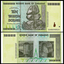 Zimbabwe 10 Trillion Dollars, AA /2008, P-88, UNC, 50 & 100 Trillion Series Best