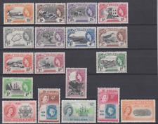 St Helena 1953/59 Set Mint Mounted to 10/-