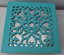 Boîte à bijoux en bois et miroir turquoise baroque shabby cm 25x25x9 boîte