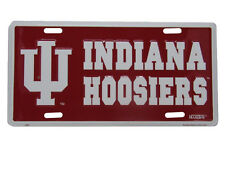 """Indiana Hoosiers Red White IU Football FL 6""""x12"""" Aluminum License Plate Tag"""