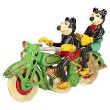 MICKEY Mouse SU MOTOCICLETTA MOTO MASCOTTE Figura Statua GHISA Disney