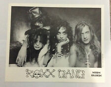 ROXX GANG '8 x 10' Black & White Band Photo Glam Rock Hair Metal Stacey Blades