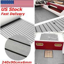 """EVA Boat Flooring Carpet Marine Teak Decking Sheet With Adhesive 35""""x95"""""""