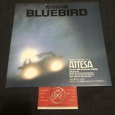 Vintage Nissan Bluebird Brochure JDM Rare 87-92 88 89 90 SSS Maxima Attesa U12