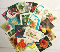 1970-80s Lot 33 pcs Postcards Unposted Vintage Flowers Greeting card Set