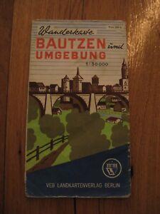 alte DDR Wanderkarte Bautzen und Umgebung Landkarte von 1962 Großpostwitz