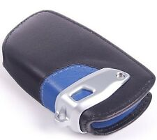 BMW F01 F02 F06 F07 F10 F11 F12 F13 LEATHER CASE KEY FOB COVER HOLDER BLACK BLUE