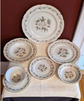 Royal Jackson Fine China Fleur De Blanc 56pc Set Vogue Ceramic Industries c.1950
