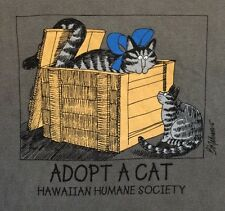 NWT 2XL MEN UniSex KLiBAN ADOPT-a-CAT Hawaii CRAZY SHiRT Hawaiian Humane Society