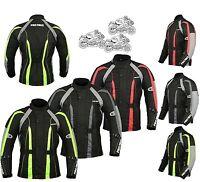 Mens Waterproof Motorbike Motorcycle Jacket Textile Cordura CE Armour