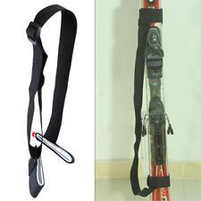 Adjustable Snowboard Backpack Ski Pole Shoulder Belt Hand Carrier Compact Strap