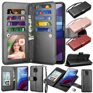 For Motorola Moto G play/G Power/G Stylus 2021 Leather Wallet Flip Case Cover