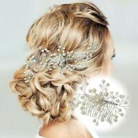 Pearls Crystal Hair Comb Clips Pins Wedding Bridal Hair Accessories Headpiece