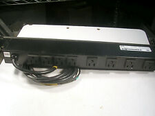 Wiremold J08B0B 9-Outlet Rack Mount Power Strip   8 OUTLETS USED