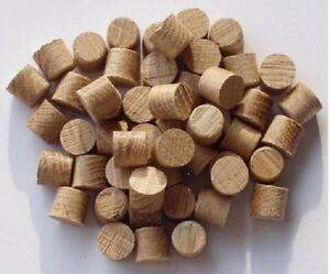 10mm American Solid Oak Tapered Tip Plugs / Pellets = Packs Of 10-20-50-100