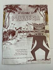 Vintage New York World's Fair Polynesia Brochure Pearl Lagoon Tiki Ephemera