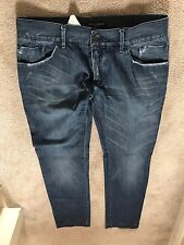 Dolce And Gabbana Men Jeans gold fit  plaque Size 52 100% authentic rare article