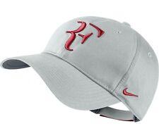 "NEW! Wolf Grey Genuine NIKE Men-Women Tennis Cap Roger FEDERER ""RF"" DRI-FIT Hat"