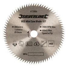 Silverline HSS Mini Hoja De Sierra 85 mm diámetro - 10 mm diámetro 80 T