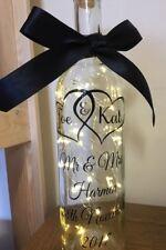 Personalised Newlyweds/Anniversary Mr & Mrs Wedding Light Up Wine Bottle Gift