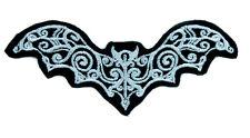 Elegant Vampire Bat Patch Iron on Applique Gothic Clothing Deathrock Halloween