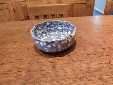 Blue Spongeware / Spatterware Bowl