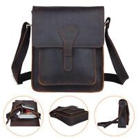 Real Leather Messenger Bag Men Business Crossbody Shoulder Bag Office Satchel