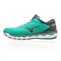 Mizuno Womens Wave Sky 3 Running Shoes Trainers Sneakers Green Sports Breathable