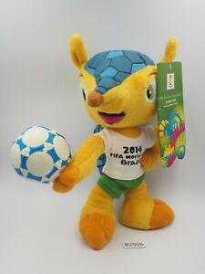 "FIFA World Cup 2014 Brazil B2906 Fuleco Football Soccer Mascot Plush 9"" Toy"