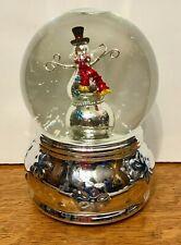 Christmas Musical Snow Globe Snowman Frosty Joy To The World