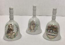 Set of Three Porcelain Bells - Collectible Vintage Religious Bells - Jesus
