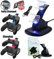LED USB Dual Dock Charging Charger Station Stand for Xbox One S Controller BK