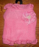 Cha Cha Couture Size Large Pink Li'l Princess Dog Sweater Dog Clothes Pet