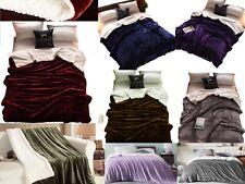 Sherpa Bed Blanket Queen Size Fleece Soft Plush Fuzzy Faux Fur Reversible Throw