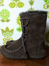 CUSHE Brown Suede Women's Waterproof Cold Weather UK Size 4 Boots  (23)