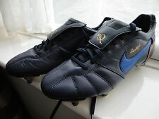 Nike Tempo Ronaldinho Navy Blue Football Boots Size 6 UK 40 EURO