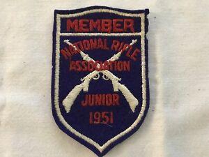 1951 MEMBER National Rifle Association Junior Division Vintage Patch