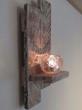 Wandkerzenhalter Kerzenhalter Teelichthalter Holz SHABBY Landhaus rustikal