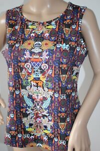 Mary Katrantzou For Adidas Top T-Shirt Multi Print Size UK 14 Brand New !