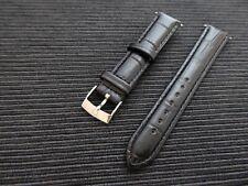 Genuine Italian Leather Croc Strap 18mm + Omega silver plated buckle BARGAIN