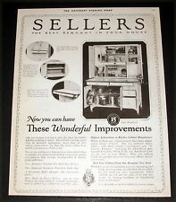 1921 OLD MAGAZINE PRINT AD, SELLERS KITCHEN CABINETS, WONDERFUL IMPROVEMENTS!