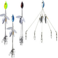 3pcs 5 Arms 4 Blades Umbrella Alabama Rig for Bass Crappie Lure Fishing Bait