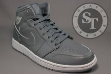 AIR JORDAN 1 ONE MID 554724-031 COOL GREY WHITE WOLF GREY DS SIZE: 11.5