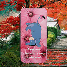 DISNEY/EEYORE/QUOTE/WINNIE POOH/FLIP WALLET PHONE CASE COVER FOR IPHONE/SAMSUNG