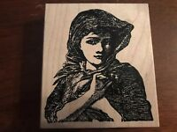 Portrait of a Woman Rubber Stamp - Stamp Francisco - Gibson Girl, Victorian Lady