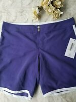 Women's Carve Designs Pipeline Swim Shorts Purple NWT Size 8