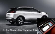 Nero Veicoli Auto Organizer centrale Bracciolo Box contenitore Accessori vassoio per Peugeot 3008 Car Styling